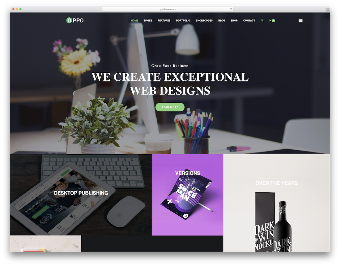 oppo designer website template