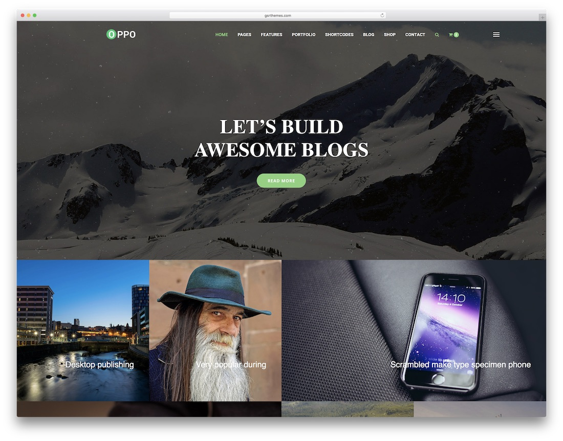 oppo mobile friendly website template