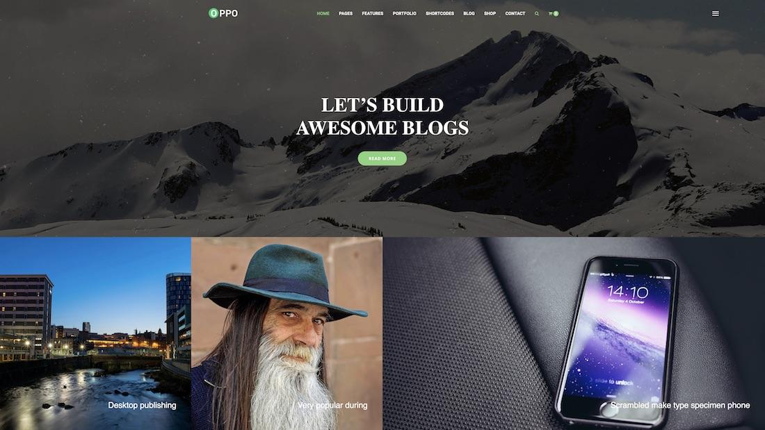 oppo mobile-friendly website template