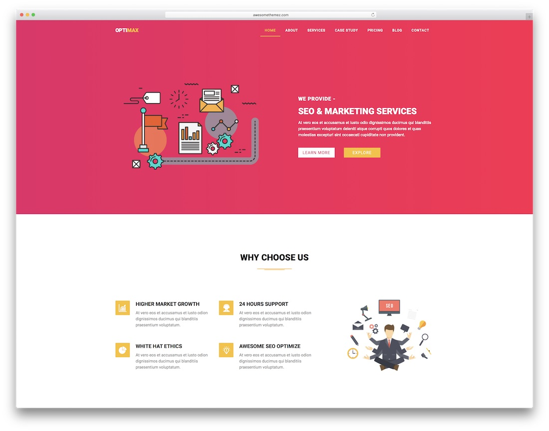 optimax clean adobe muse template