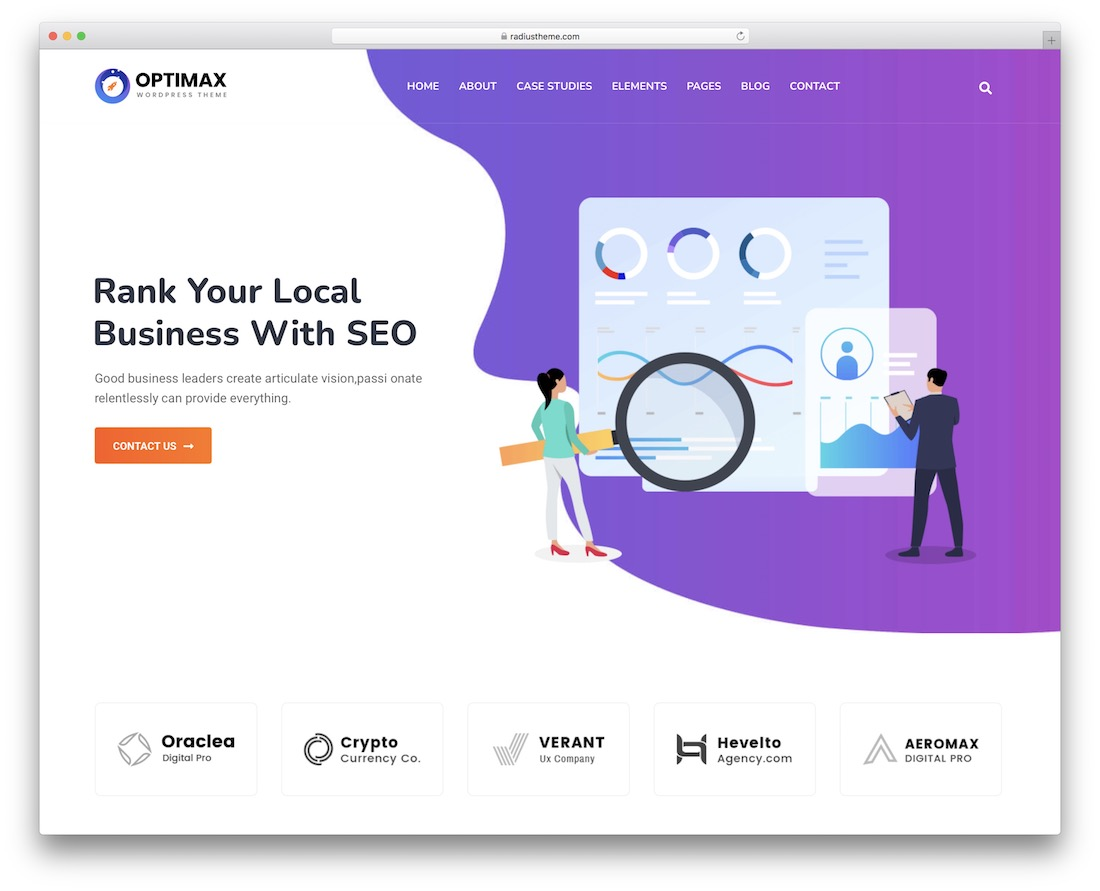 optimax seo agency wordpress theme