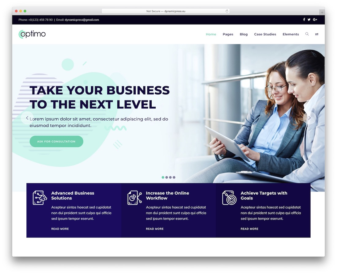 optimo wordpress theme
