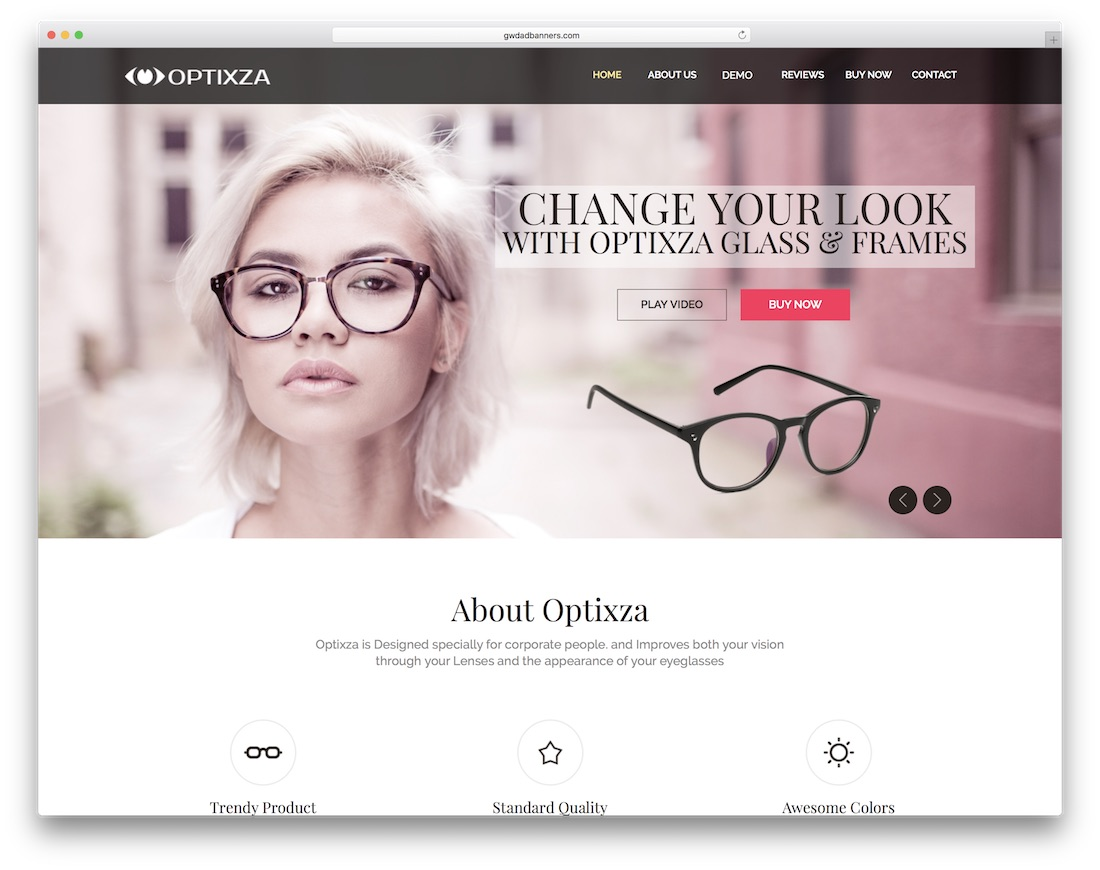 optixza ecommerce adobe muse template