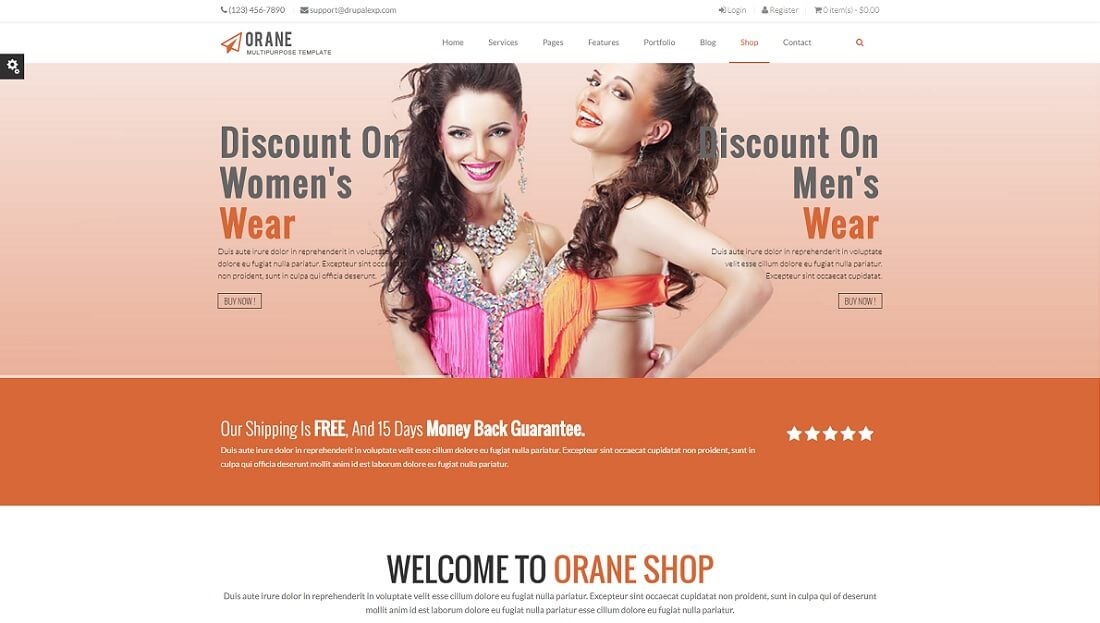 orane drupal commerce template