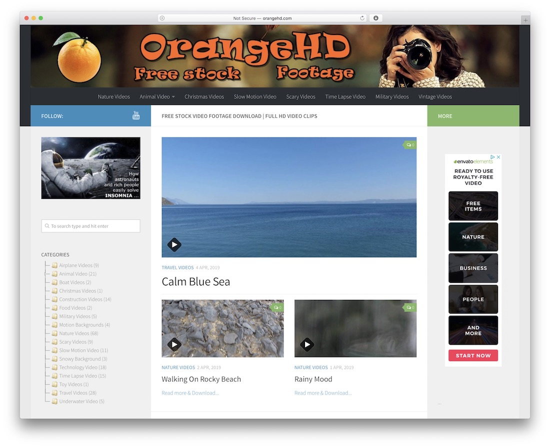 orangehd free stock video site