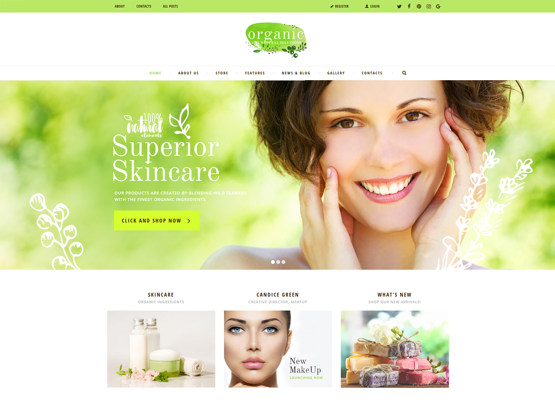 Organic Beauty Store & Natural Cosmetics | Organic Store WordPress Theme