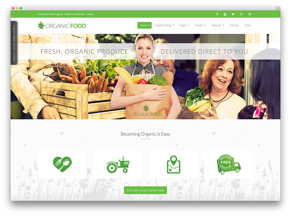 organic food - woocommerce powered theme