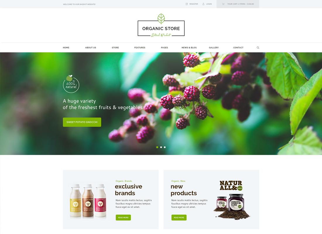 Organic Store - Organic Food & Eco Products WordPress Theme + RTL