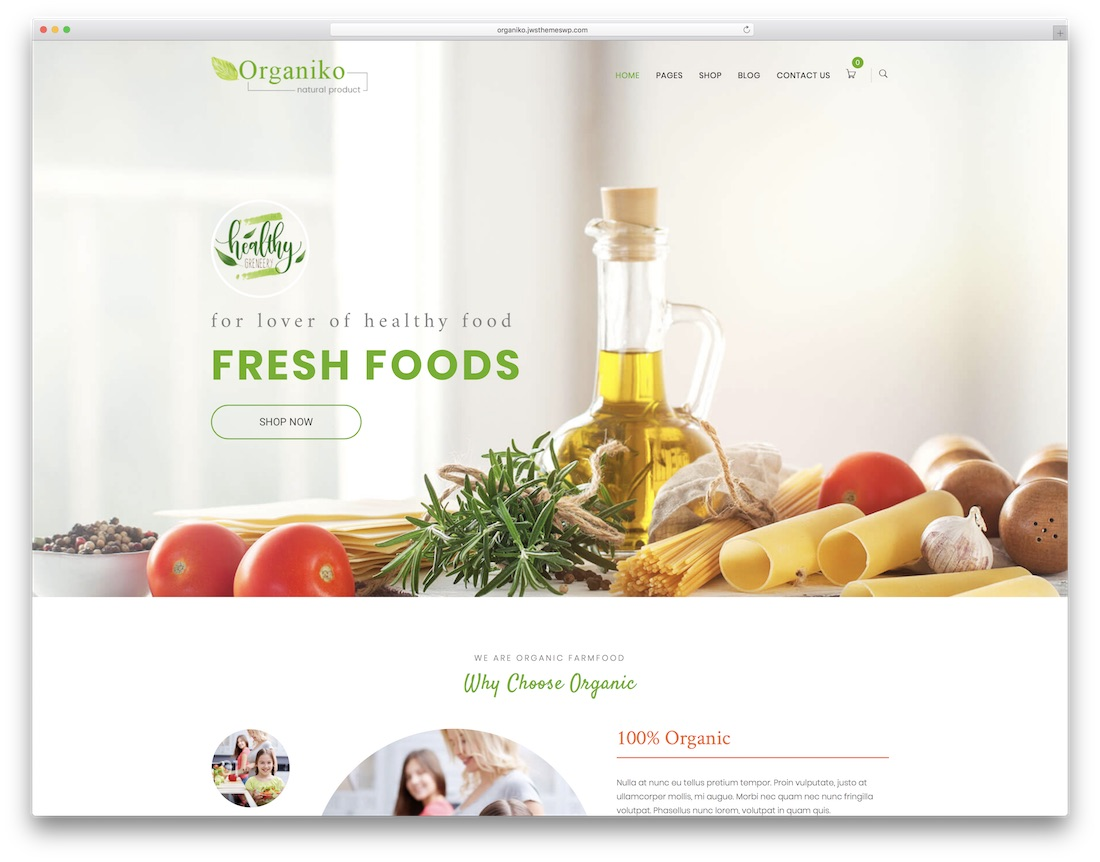 organiko farming wordpress theme