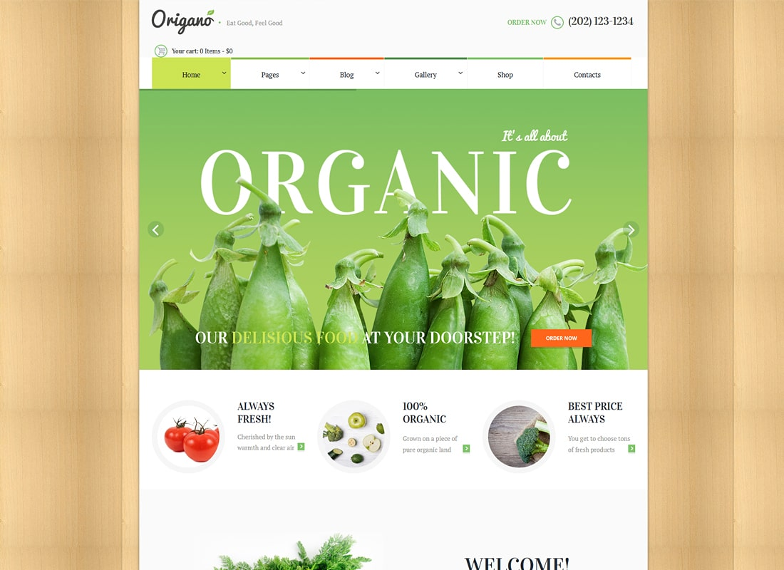Origano | Organic Food & Eco Farm WordPress Theme