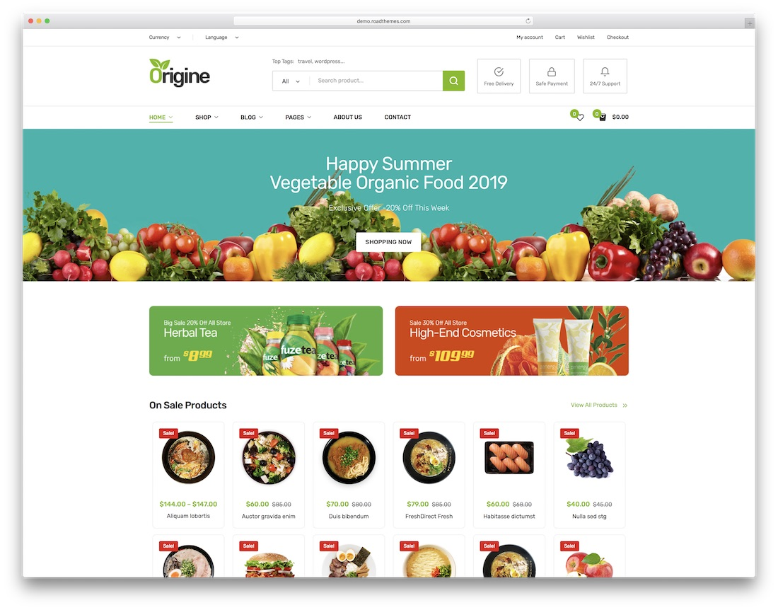 origine farming wordpress theme