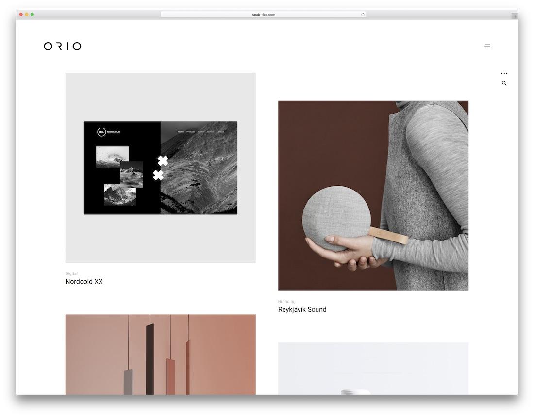 orio graphic design website template
