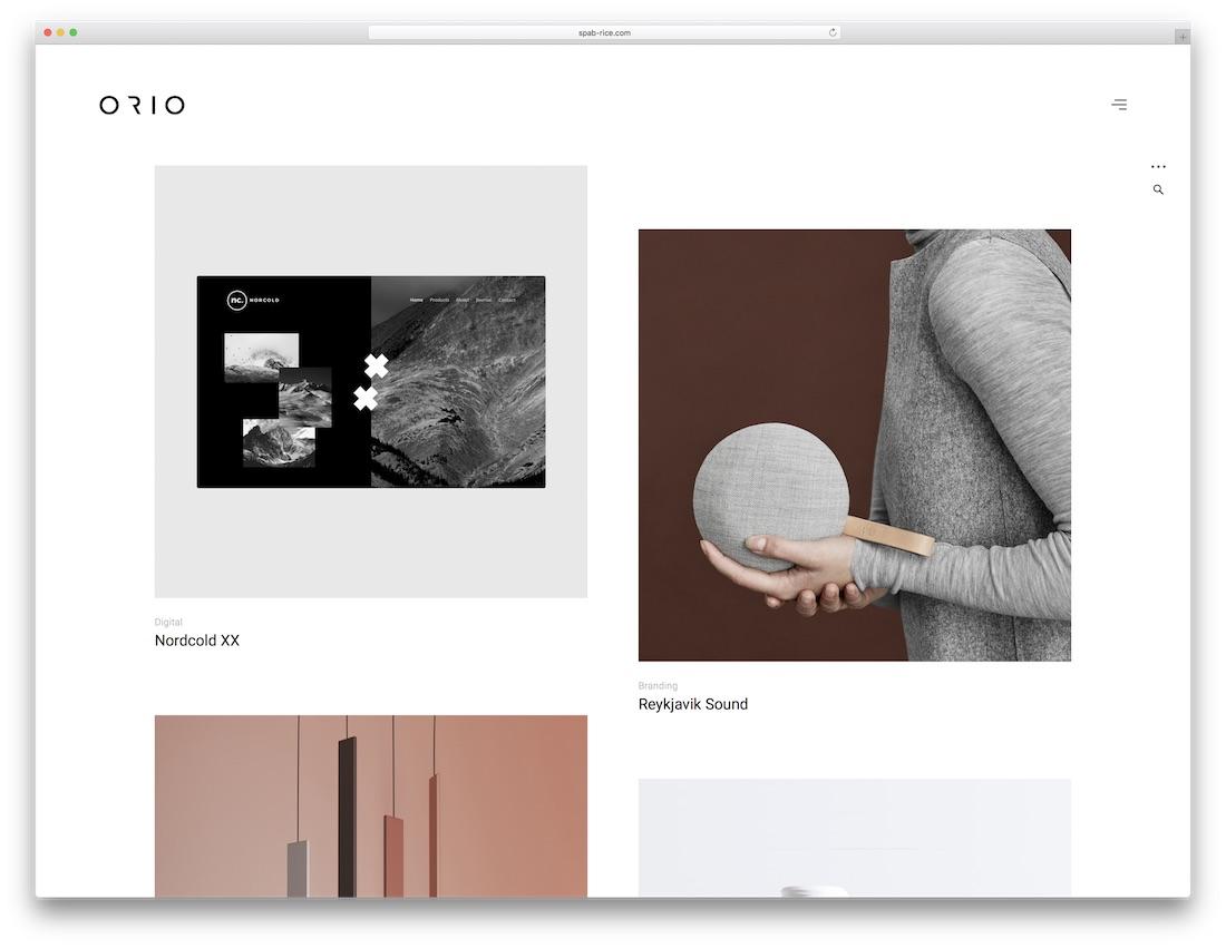 orio parallax website template