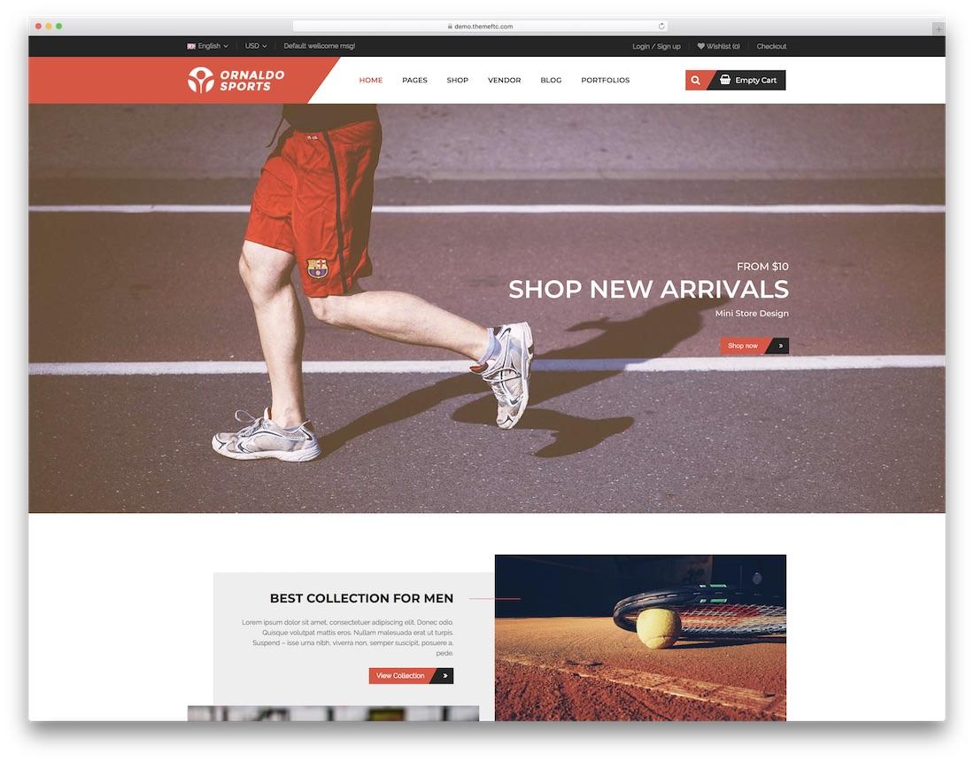 ornaldo wordpress sports theme