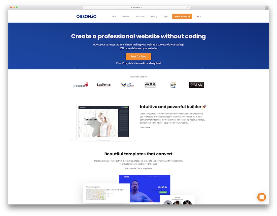 orson website builder for designers