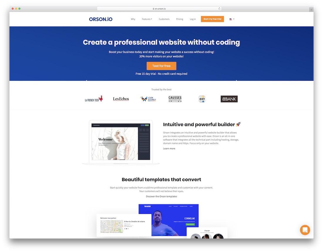 orson website builder for designers