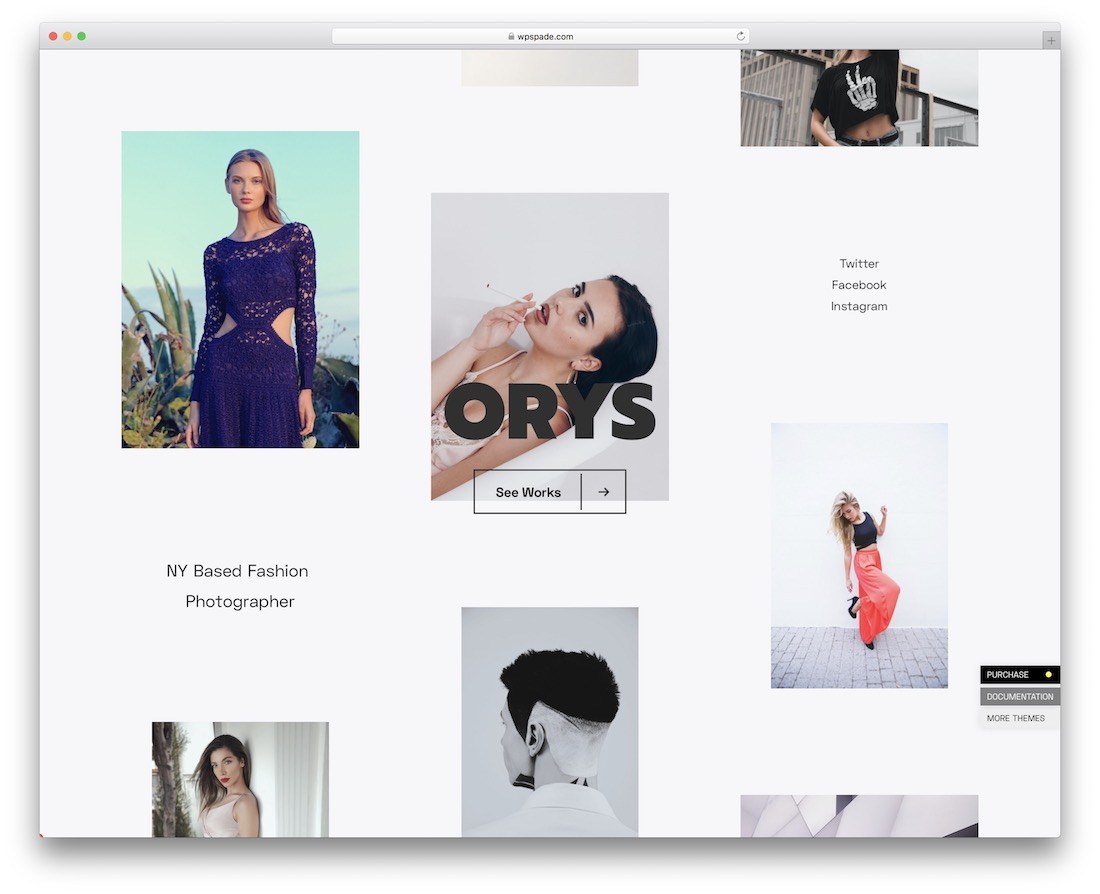 orys wordpress theme for photographers