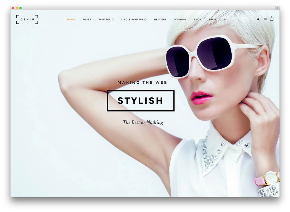 oshine minimal photography theme