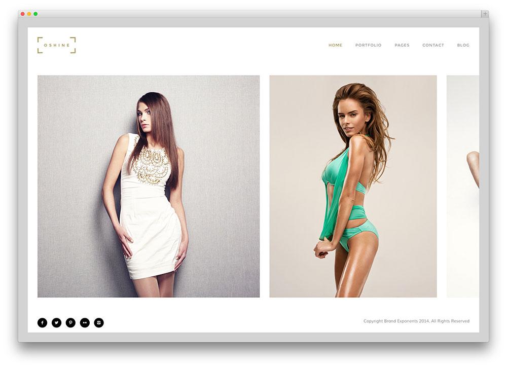 oshine - clean multipurpose photography theme