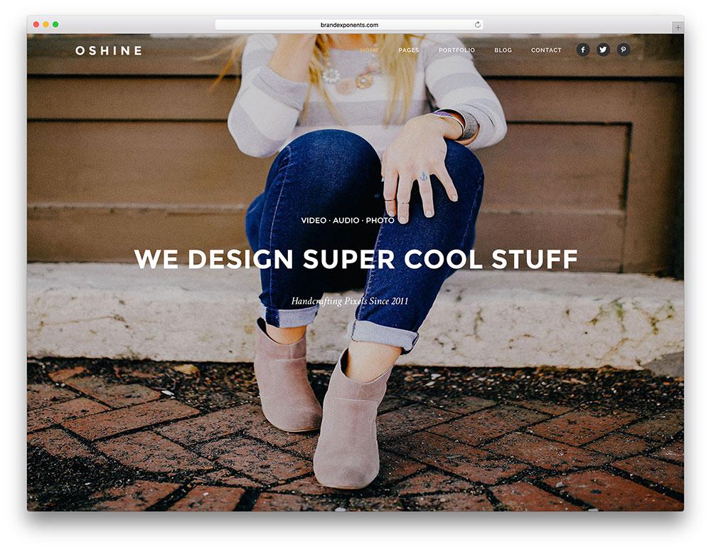 oshine - one page creative agency theme