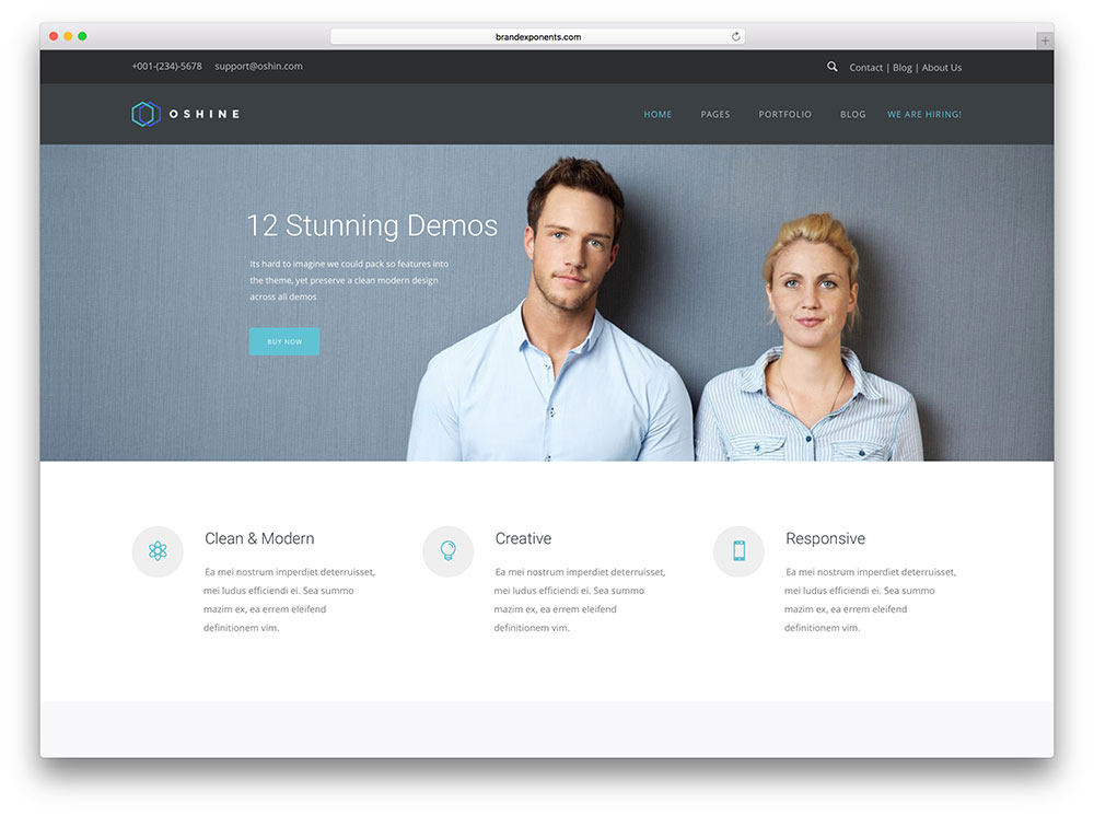 oshine-static-website-wordpress-theme