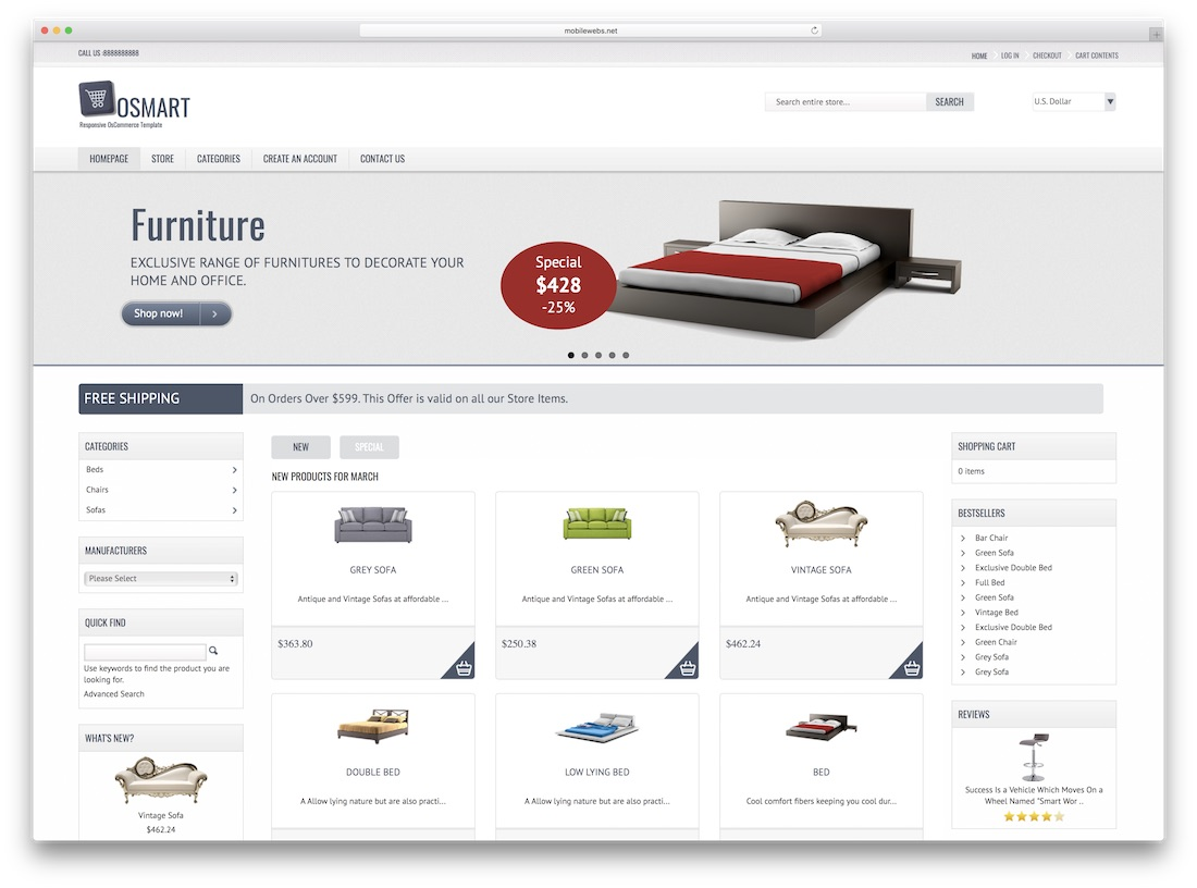 osmart oscommerce template