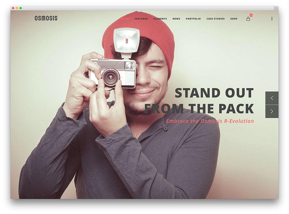 osmosis fullscreen photography portfolio