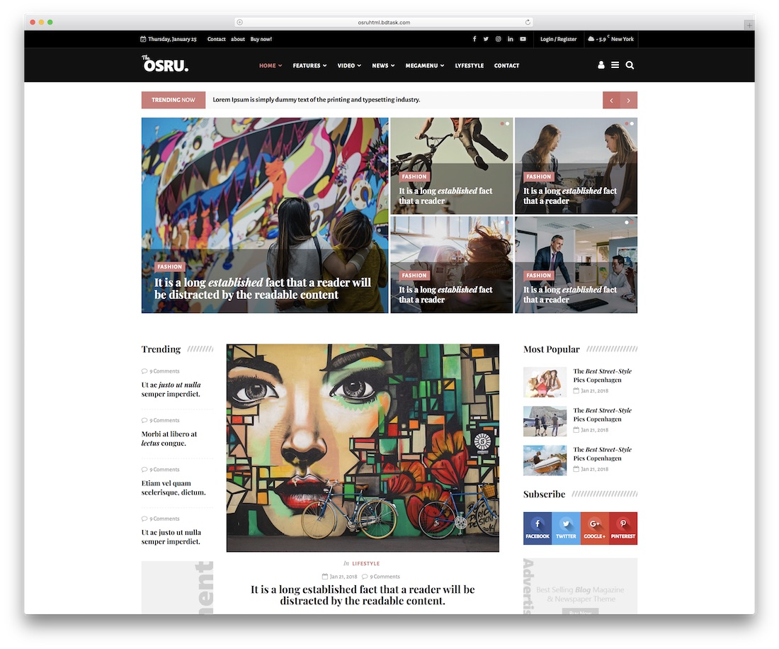 19 Best Responsive HTML5/CSS3 Blog Templates 2018 - Colorlib
