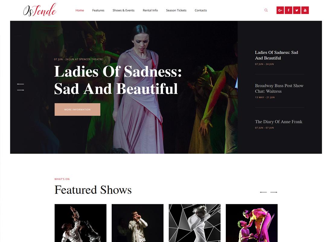 OsTende - Theater WordPress Theme