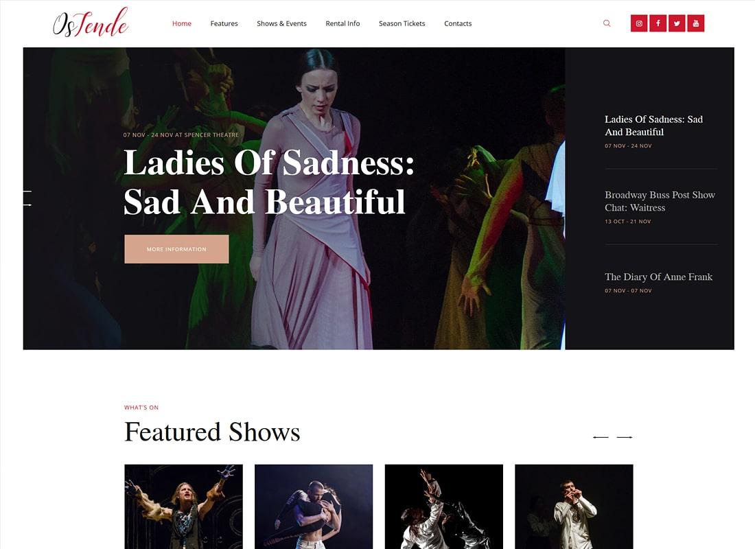 OsTende | Theater WordPress Theme