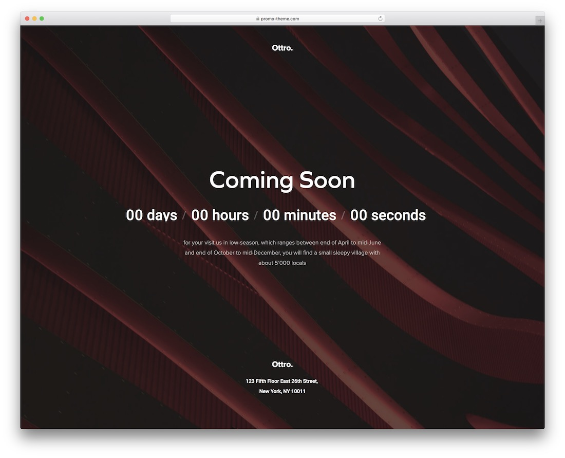 ottro coming soon template
