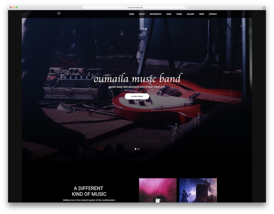 oumaila musician website template