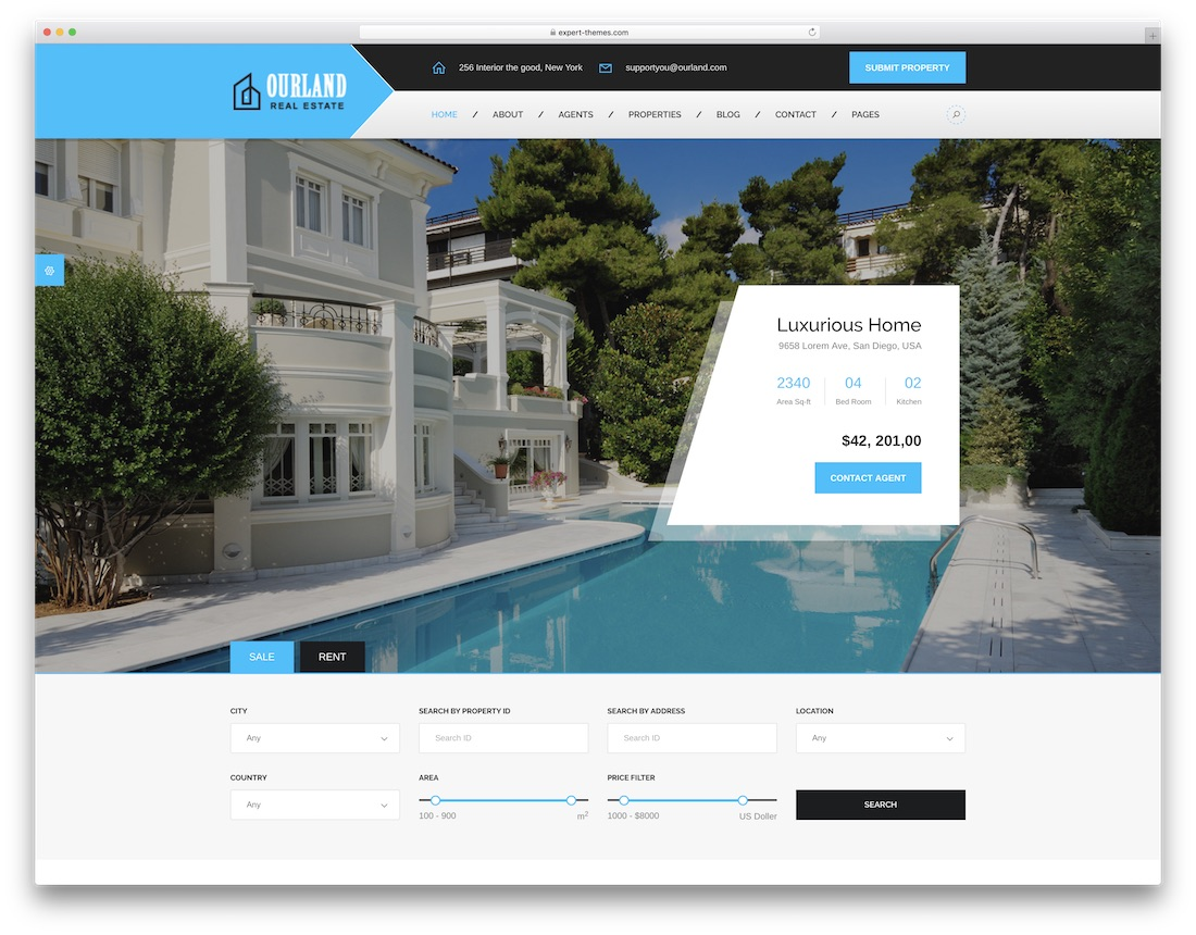 ourland html5 real estate website template