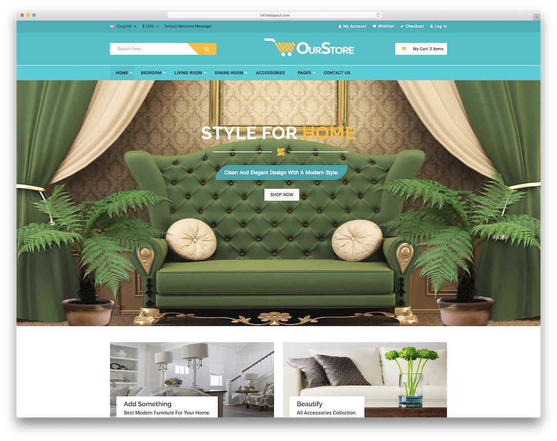 ourstore ecommerce website template