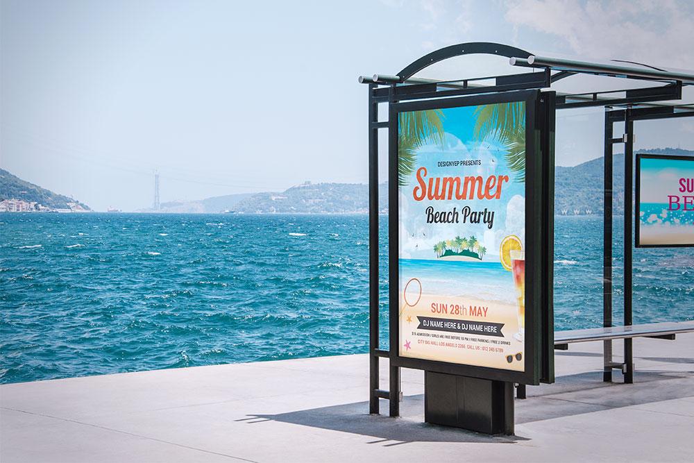 outdoor advertising free mockup