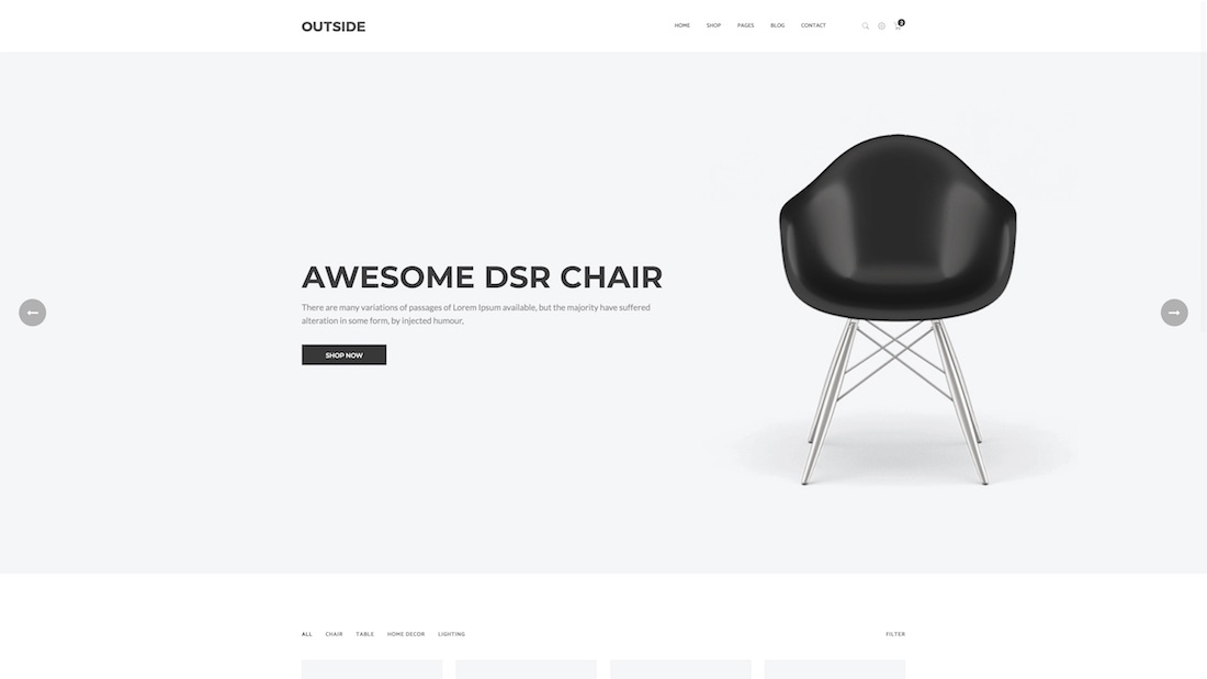 outside ecommerce website template