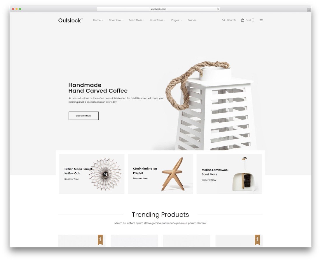 outstock magento theme