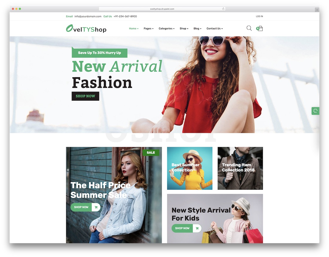 ovelty drupal ecommerce template