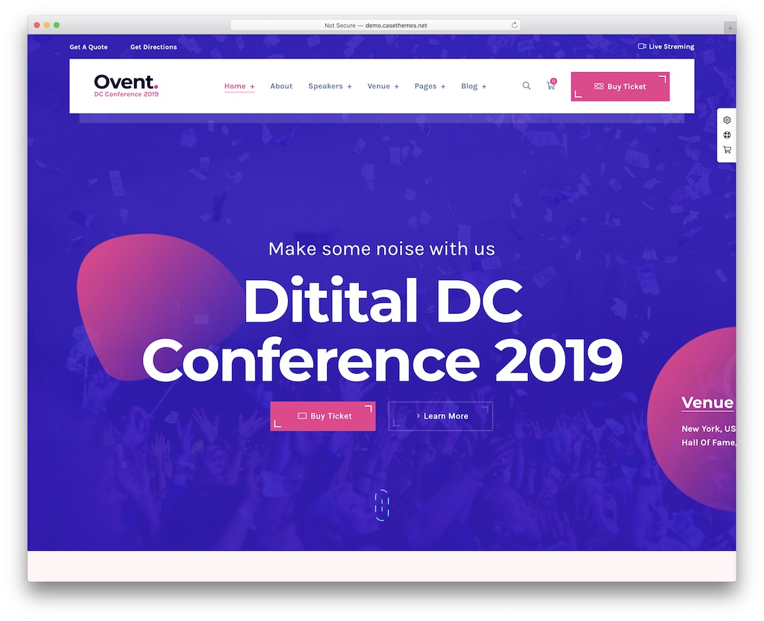 ovent wordpress theme for conference and event