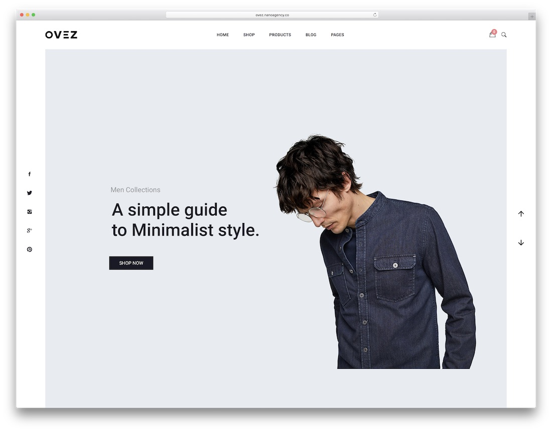 ovez wordpress theme static websites