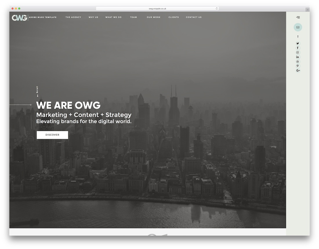 owg agency adobe muse template
