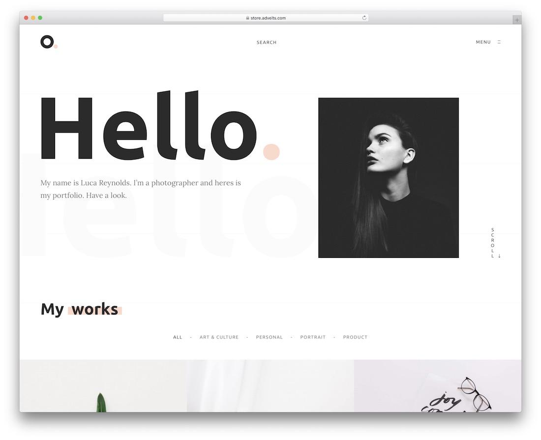 oxer personal branding wordpress theme