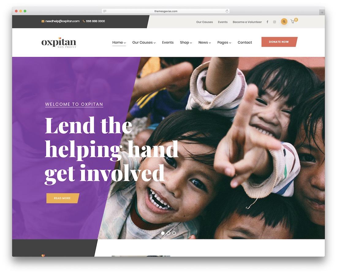 oxpitan ngo website template