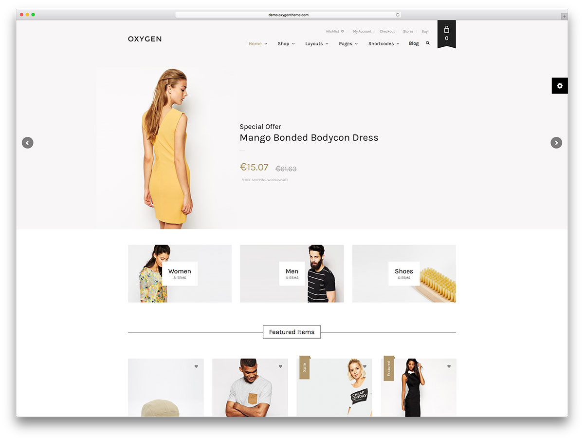 oxygen-minimal-woocommerce-wordpress-theme