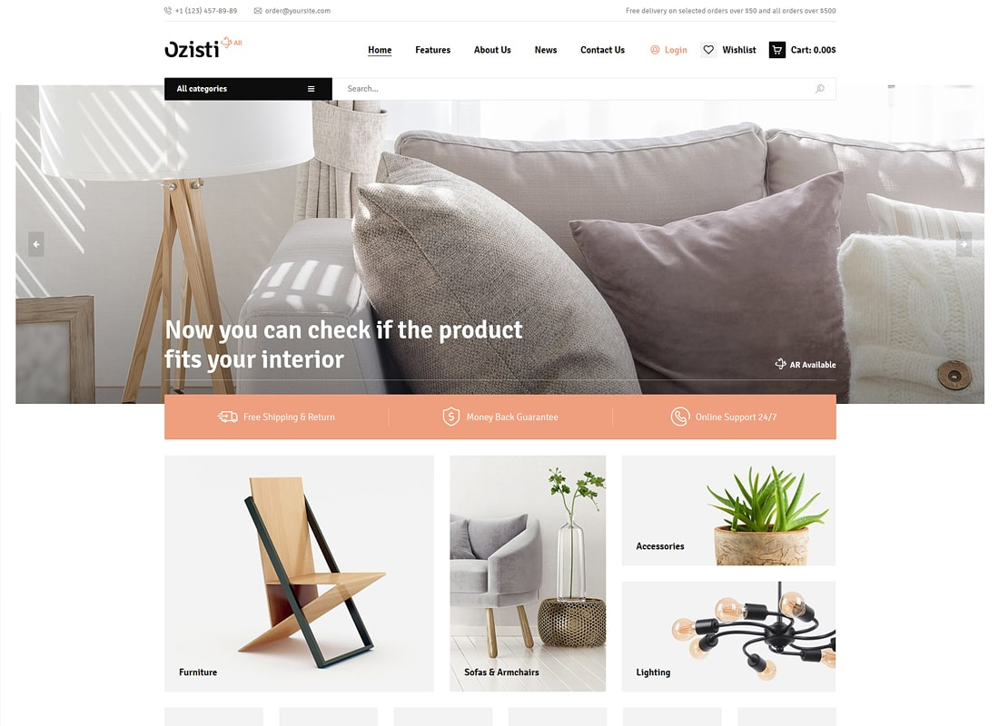 Ozisti | A Multi-Concept WooCommerce WordPress Theme Augmented Reality Store Ready