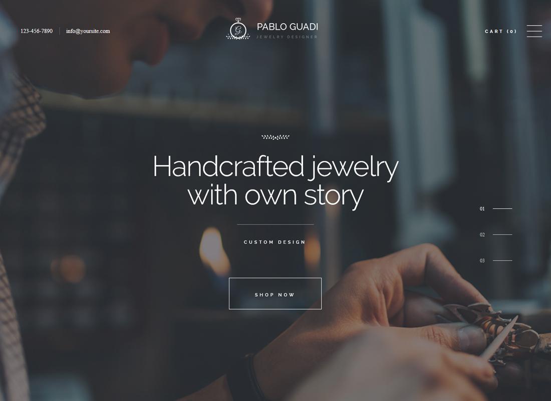 Pablo Guadi   Jewelry Designer & Handcrafted Jewelry Online Shop WordPress Theme