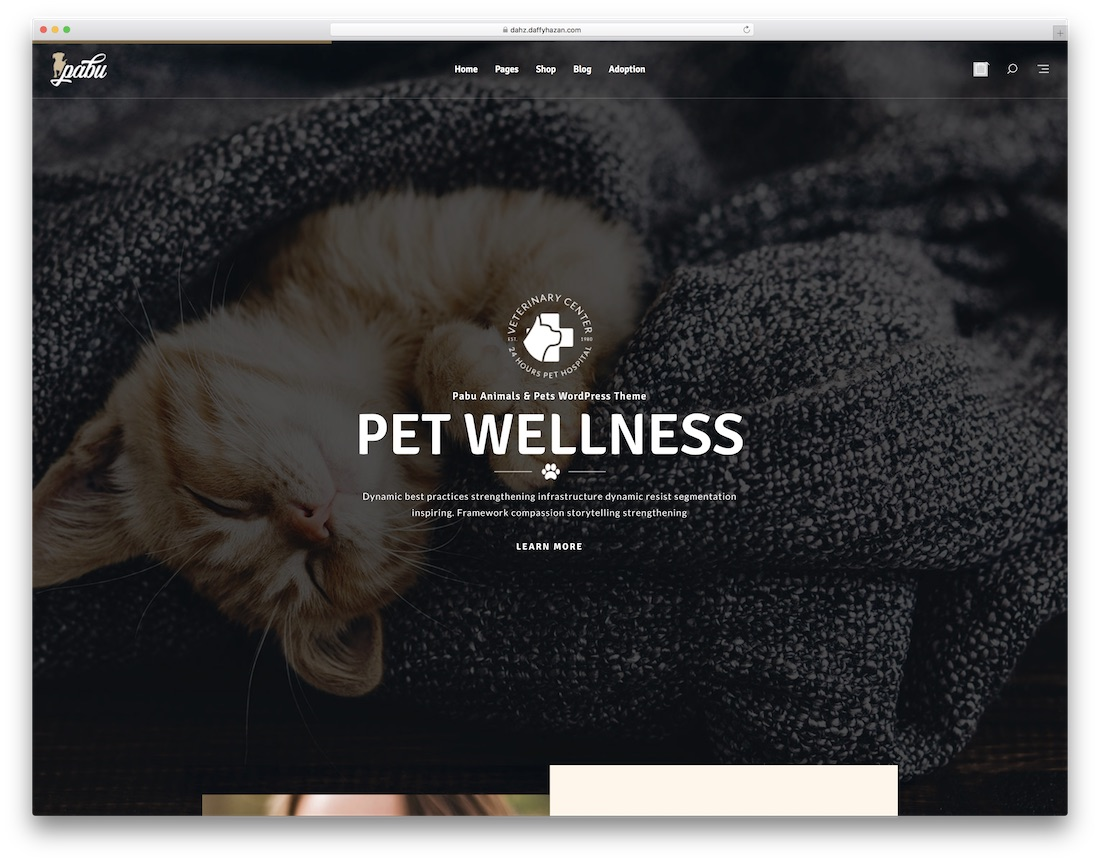 pabu animal wordpress theme