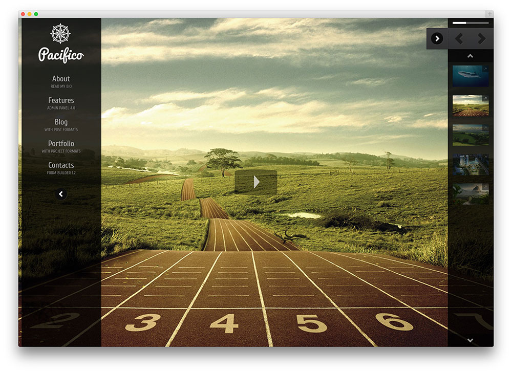 pacifico - fullscreen photography theme