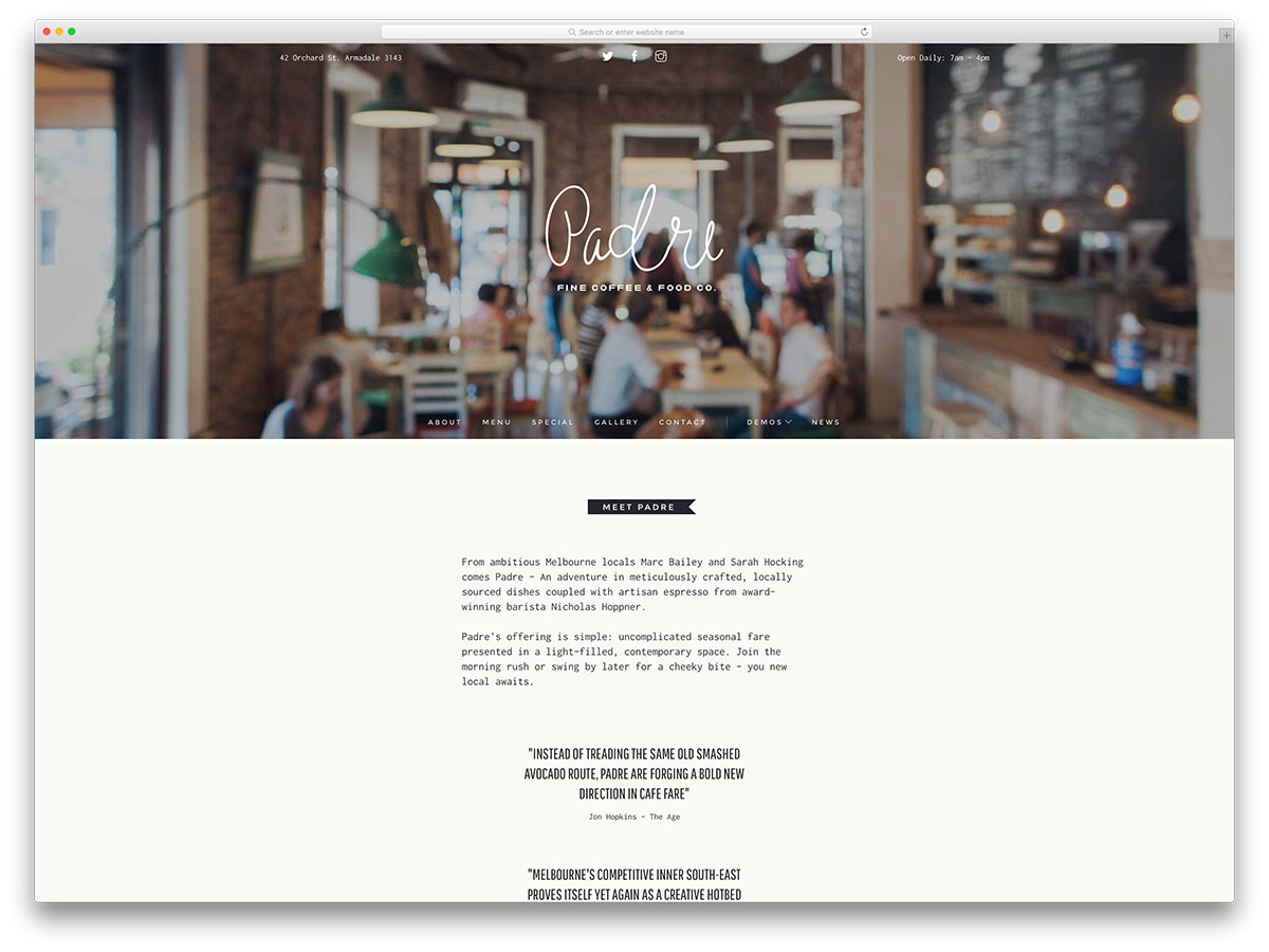 top 20 html5 restaurant website templates 2017 - colorlib