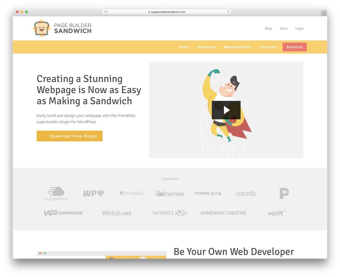 page builder sandwich wordpress page builder plugin